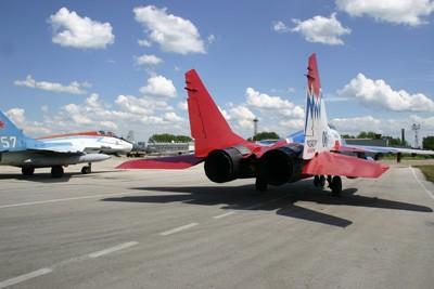 "Aerobatic team ""Strizhy"" in Magnitogorsk"