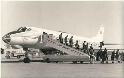 Самолет Ту-124. 1971 год.