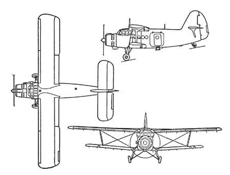 Самолет АН-2 конструкции ОКБ